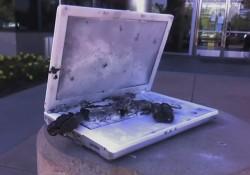 charred computer